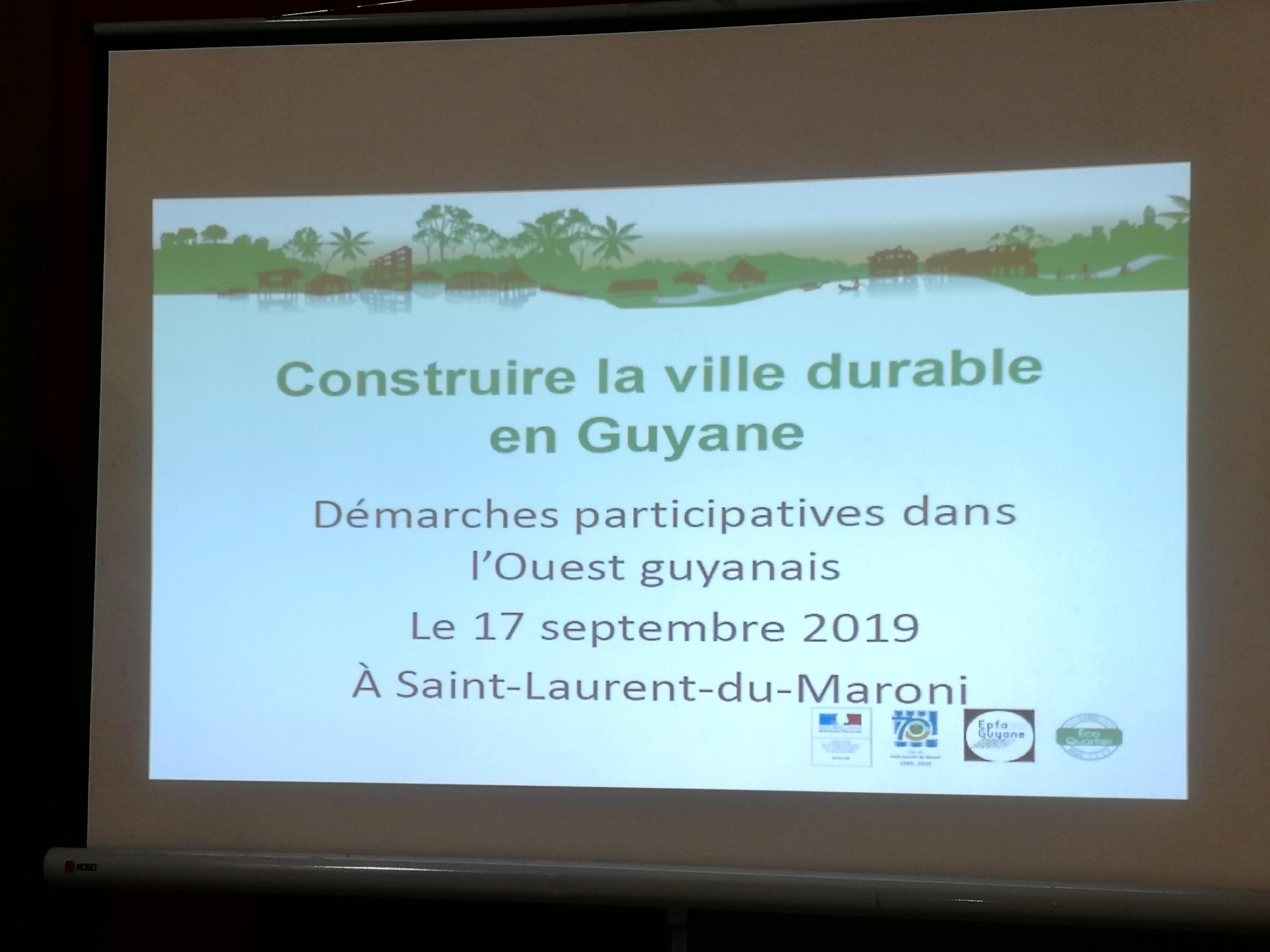 Démarches participatives dans l'Ouest guyanais à Saint Laurent du Maroni